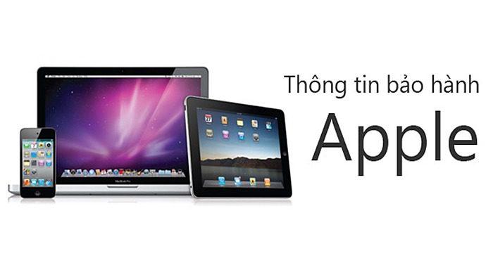 thông tin bảo hành apple