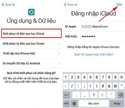 Cách dùng iCloud Backup để chuyển dữ liệu giữa iPhone/iPad giống nhau 100%
