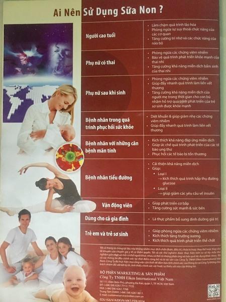 Thực phẩm tăng cường sức đề kháng sữa non Elken IG6