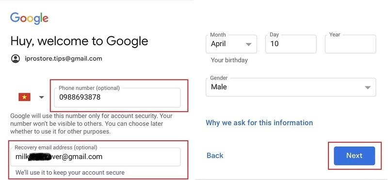 Cách tạo tài khoản Gmail miễn phí